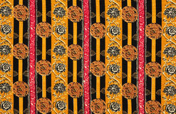 De bloemen Textuur van de Stof Stock Afbeelding