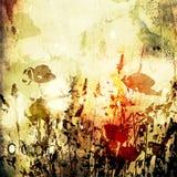 De bloemen uitstekende achtergrond van de kunst Stock Afbeeldingen