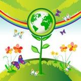 De bloemen van de Aarde van Eco Stock Afbeelding