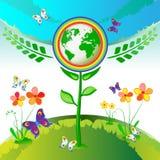De bloemen van de Aarde van Eco Royalty-vrije Stock Fotografie