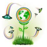 De bloemen van de Aarde van Eco Stock Foto's