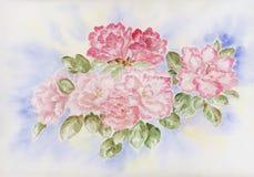 De bloemen van de azalea royalty-vrije illustratie