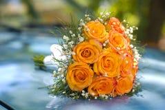 De bloemen van de bruid Stock Foto