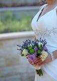 De bloemen van de bruid Stock Foto's