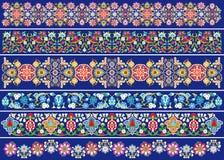 De bloemen van de decoratie op blauw Royalty-vrije Stock Fotografie
