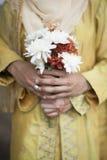 De bloemen van de handholding Stock Afbeeldingen