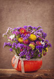 De bloemen van de herfst Vector vakantiekaart Royalty-vrije Stock Fotografie