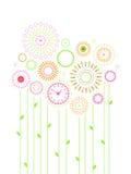 De bloemen van de klok royalty-vrije illustratie