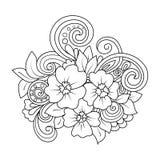 De bloemen van de krabbelkunst Royalty-vrije Stock Afbeelding