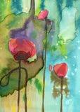 De bloemen van de lente in de weide Stock Fotografie