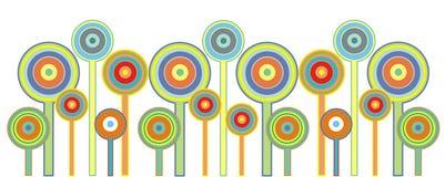 De bloemen van de lolly Stock Afbeeldingen