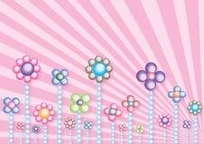 De bloemen van de parel Stock Illustratie