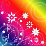 De bloemen van de regenboog Stock Afbeeldingen
