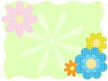 De bloemen van de stof Stock Afbeeldingen