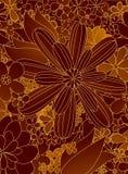 De bloemen van de tekening Stock Foto's