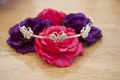 De bloemen van de tiara Royalty-vrije Stock Foto's