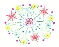 De bloemen van de waterverf Royalty-vrije Stock Afbeeldingen