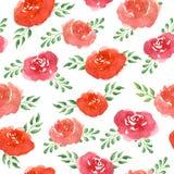 De bloemen van de waterverf Naadloos patroon Royalty-vrije Stock Afbeelding