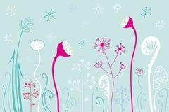De bloemen van de winter Stock Illustratie