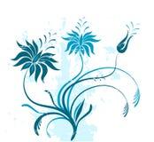 De bloemen van Grunge Stock Afbeeldingen