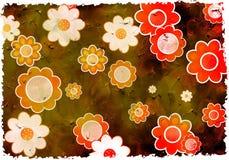 De bloemen van Grunge stock foto