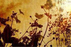 De bloemen van Grunge Stock Afbeelding