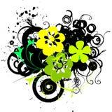 De bloemen van Grunge Stock Foto's