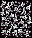 De bloemen van Hawaï black&white. vector illustratie