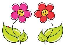 De bloemen van het beeldverhaal Stock Afbeelding