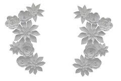De bloemen van het document royalty-vrije stock foto