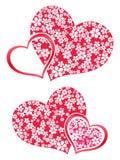 De bloemen van het hart Stock Foto's