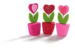 De Bloemen van het Hart van de liefde Stock Afbeelding