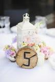 De bloemen van het huwelijksdecor stock afbeeldingen