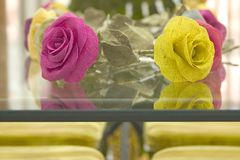De Bloemen van het linnen op Lijst. Royalty-vrije Stock Afbeelding