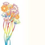 De bloemen van het pop-art Royalty-vrije Stock Foto