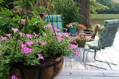 De bloemen van het terras Stock Afbeelding