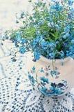 De bloemen van het vergeet-mij-nietje Stock Afbeeldingen