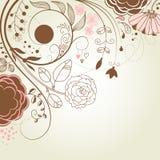 De bloemen van krabbels Vector Illustratie