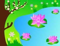 De bloemen van Lotus vector illustratie