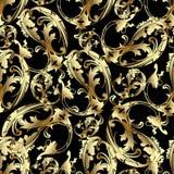 De bloemen van Paisley in barokke stijl Royalty-vrije Stock Afbeelding