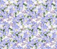 De bloemen van de waterverf Lilac hydrangea hortensia's royalty-vrije illustratie