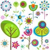 De bloemen van Whimsy Stock Foto