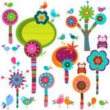 De bloemen van Whimsy Royalty-vrije Stock Afbeeldingen