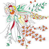 De bloemen vector van het Ontwerp Stock Afbeeldingen