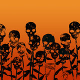 De bloemen zijn geboren schedels Royalty-vrije Stock Foto