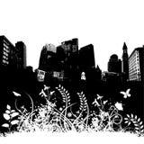 De BloemenAchtergrond Grunge van de stad Royalty-vrije Stock Afbeeldingen