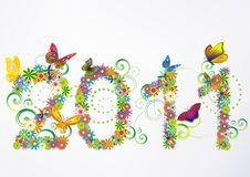 de bloemenachtergrond van 2011 Stock Foto