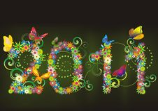 de bloemenachtergrond van 2011 Stock Afbeelding