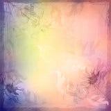 De bloemenachtergrond van de Grunge uitstekende schets Royalty-vrije Stock Foto