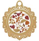 De bloemenachtergrond van de herfst Alle elementen en texturen zijn individuele voorwerpen Stock Foto
